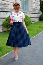 asos skirt - River Island bag - elite heels - Oasapcom blouse
