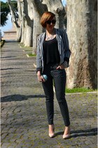 Zara blouse - Primark blazer - H&M bag - Zara heels - BonPrix pants