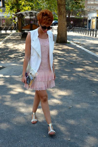 Promod dress - Bershka bag - George Gina & Lucy sunglasses - Promod vest