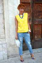 Zara jeans - H&M bag - Zara heels - Zara blouse