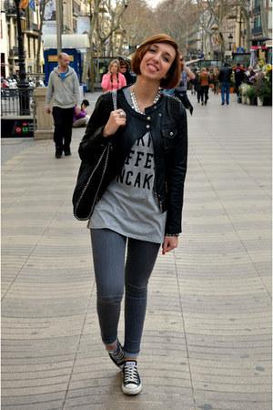 Bershka jeans - TANGRAM jacket - Stella Mc Cartney bag - Converse sneakers