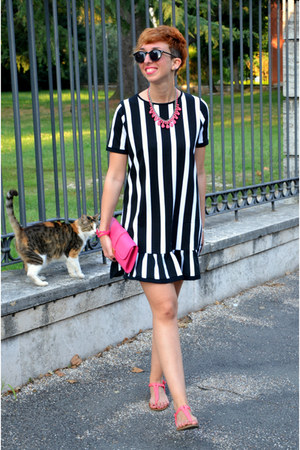 Zara necklace - asos dress - River Island bag - H&M sunglasses - pull&bear flats