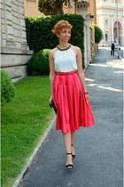 Zara heels - Accessorize bag - asos skirt - Zara blouse
