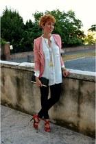 Camaïeu blazer - Bershka jeans - Zara shirt - Accessorize bag - H&M bracelet