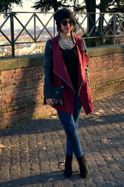 shampalove jacket - Zara boots - pull&amp;bear jeans - shampalove bag