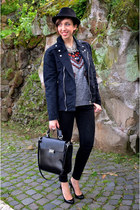 Zara bag - thepusherco jacket - Zara pants - Christian Louboutin heels