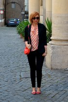 vintage shirt - Sheinsidecom blazer - H&M bag - George Gina and Lucy sunglasses
