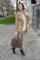 romwe coat - Louis Vuitton bag