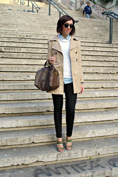 H&M jacket - Bershka jeans - Zara sweater