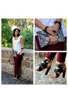 Zara heels - H&M bag - Stradivarius pants - Nara Camicie blouse