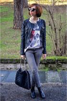 TANGRAM jacket - H&M boots - Mango jeans - Stella McCartney bag