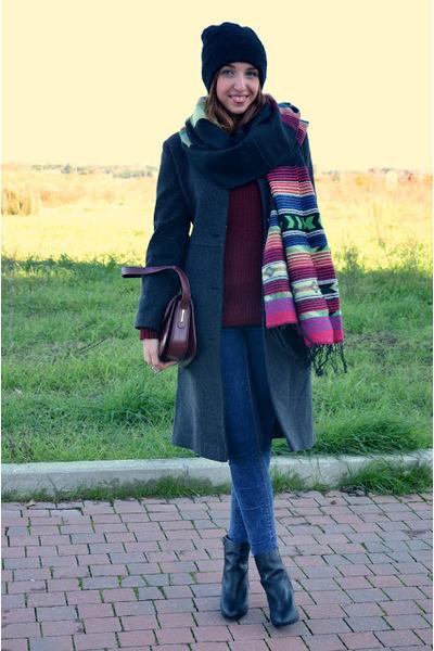 pull&bear jeans - Stradivarius boots - pull&bear sweater