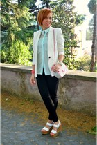 Zara blazer - Zara shirt - Baracco bag - Zara pants - Bata wedges