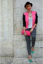 Zara heels - Bershka hat - River Island bag - Camaïeu pants - Zara blouse