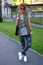 Zara jacket - Stella McCartney bag - Zara t-shirt - yurban sneakers - Zara pants