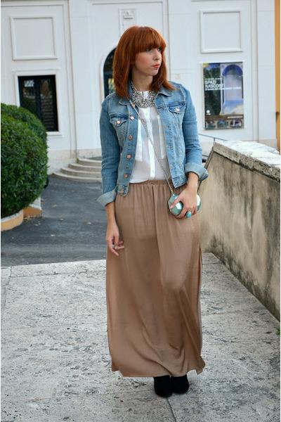 Zara skirt - Zara boots - H&M jacket - H&M bag - H&M necklace