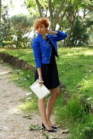 H&M jacket - Zara dress - H&M bag - Zara heels