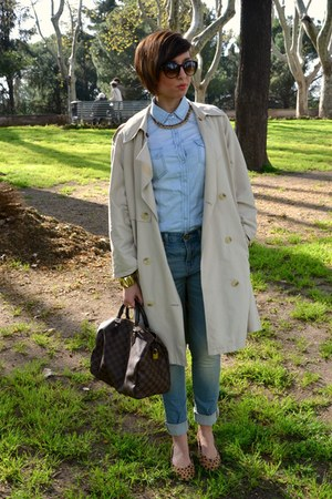 vintage cape - Levis jeans - Louis Vuitton bag - George Gina and Lucy sunglasses