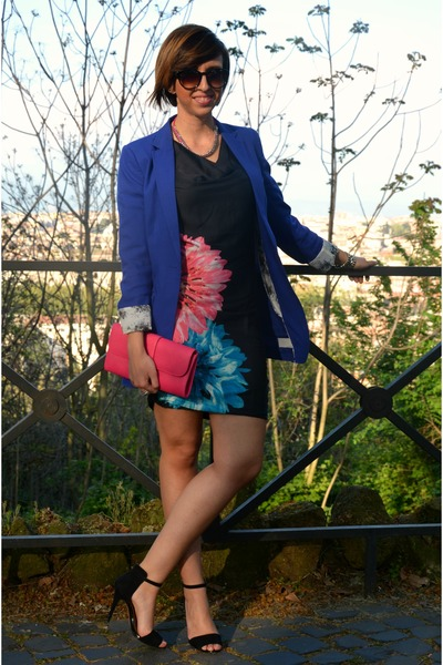 BonPrix dress - H&M blazer - River Island bag - George Gina & Lucy sunglasses