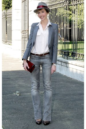 peach no brand shirt - heather gray Alexander McQueen blazer