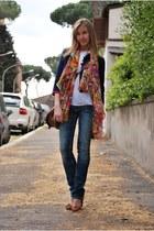 dondup jeans - vintage blazer - no brand shirt - H&M bag