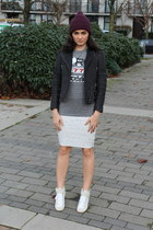 TBabaton hat - leather Wilfred Free jacket - Marc Jacobs t-shirt - Le Fou skirt