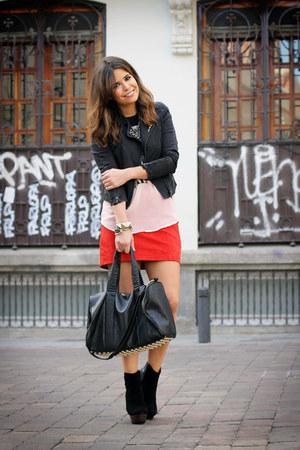 Forever 21 skirt - Friis & Company boots - romwe jacket - Modekungen bag