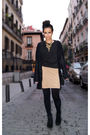 Black-zara-jacket-gold-new-years-eve-vintage-dress-dress-black-zara-shoes-