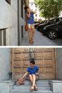Gold-zara-skirt-blue-pull-bear-top-brown-zara-shoes-brown-asos-accessories