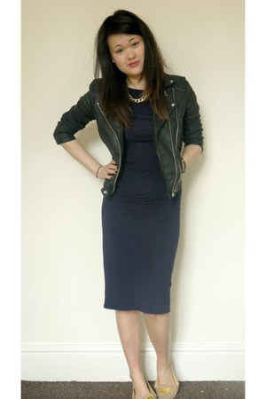 Mango jacket - midi Topshop dress