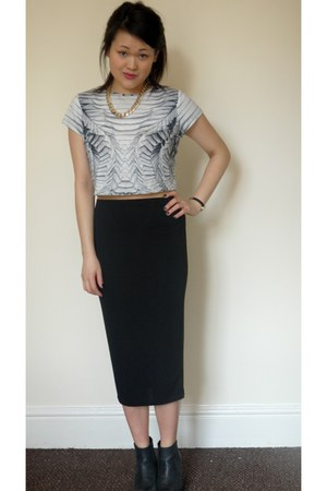 black River Island skirt - River Island top