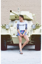 boxy crop top cotton on top - hawaiian print cotton on shorts