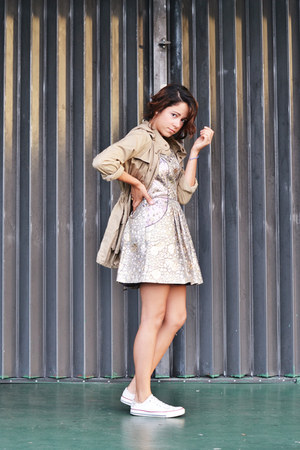 metallic Urban Outfitters dress