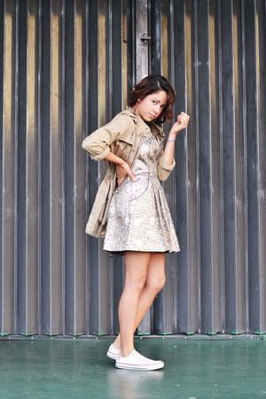 metallic Urban Outfitters dress