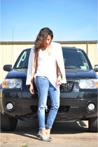 allsaints jeans - Forever21 blazer - Zara t-shirt - Mossimo heels