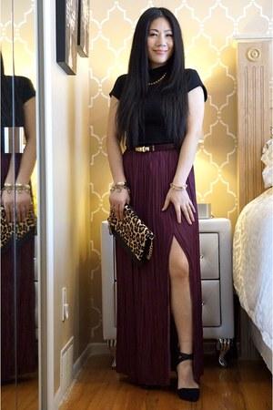 crimson skirt