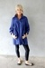 black Urban Outfitters shoes - blue lux uo jacket - black model leggings
