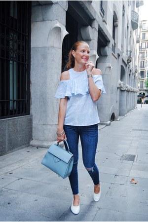 Coccinelle bag - Uterque shoes - Zara jeans