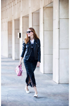 BLANCO jacket - Zara dress - Rebecca Minkoff bag - Uterque heels