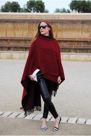 Wolford leggings - Zara bag - Ray Ban sunglasses - Zara heels - Zara blouse