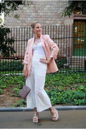 Zara blazer - ecco bag - Zara pants - Mustang sandals