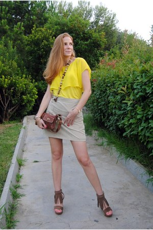 Julietta Barcelona sandals - Mango bag - Zara blouse - Mango skirt