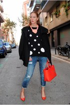 Sueños de Caramelo necklace - Pepe Jeans coat - Zara jeans - black Mango sweater