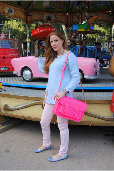satchel bag - Zara sweater - Zara pants - Nine West flats