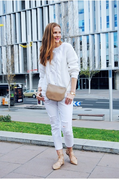 suiteblanco sweater - Zara shoes - Mango jeans - Carolina Herrera bag