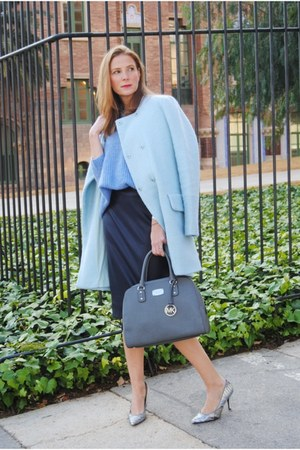 Sita Nevado necklace - Zara coat - Zara sweater - Michael Kors bag - Zara skirt