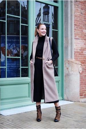 oxygene vest - Menbur boots - Zara sweater - Coccinelle bag - Zara pants