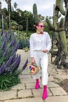 BLANCO sweater - H&M boots - Zara jeans - purificación garcía bag