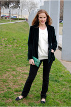 Zara sweater - vintage blazer - handmade bag - Bershka loafers
