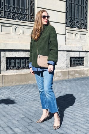 zaful sweater - Zara jeans - Carolina Herrera bag - Zara heels